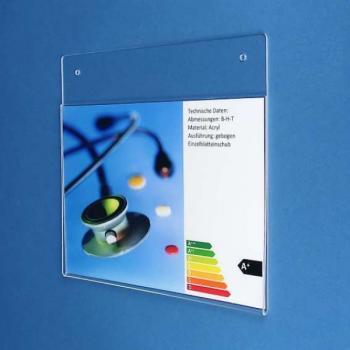 Plakattasche din a4 querformat f r wand decke - Ubergang wand decke acryl ...