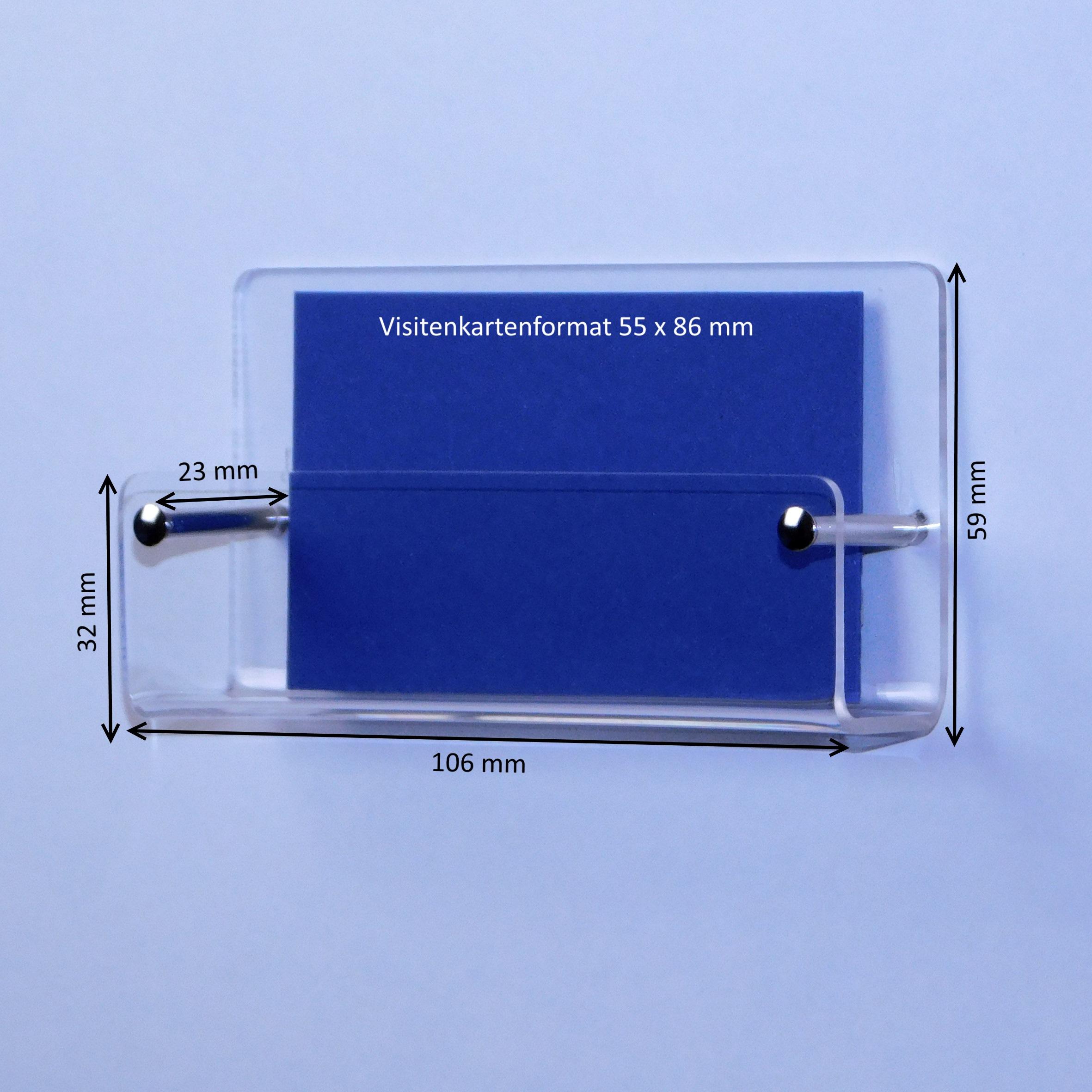 Wand Prospekthalter Für Visitenkarten Im Querformat Fülltiefe 23mm