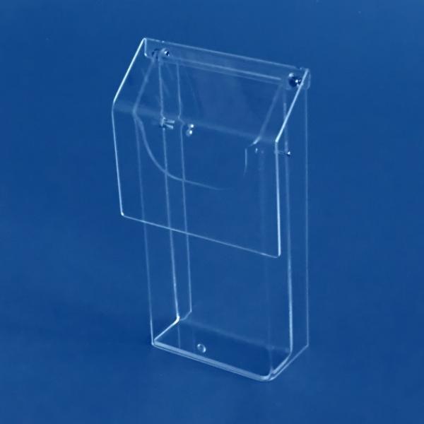 wetterfeste prospektbox aus acryl din a4 hoch f r den au enbereich. Black Bedroom Furniture Sets. Home Design Ideas